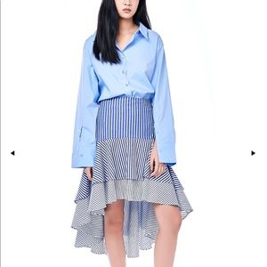 Dresses & Skirts - Blue Striped high low skirt